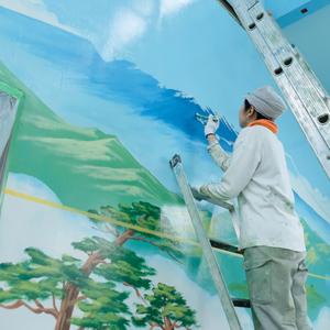 2018年10月12日(金)田中みずきペンキ絵師公開、ペンキ絵書き替えのサムネイル